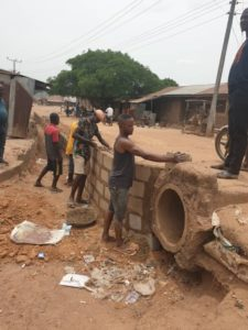 Super Eagles star Moses Simon constructs roads, drainage in Benue state