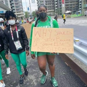 Nigerian Athletes Stage Protest In Tokyo Over Disqualification