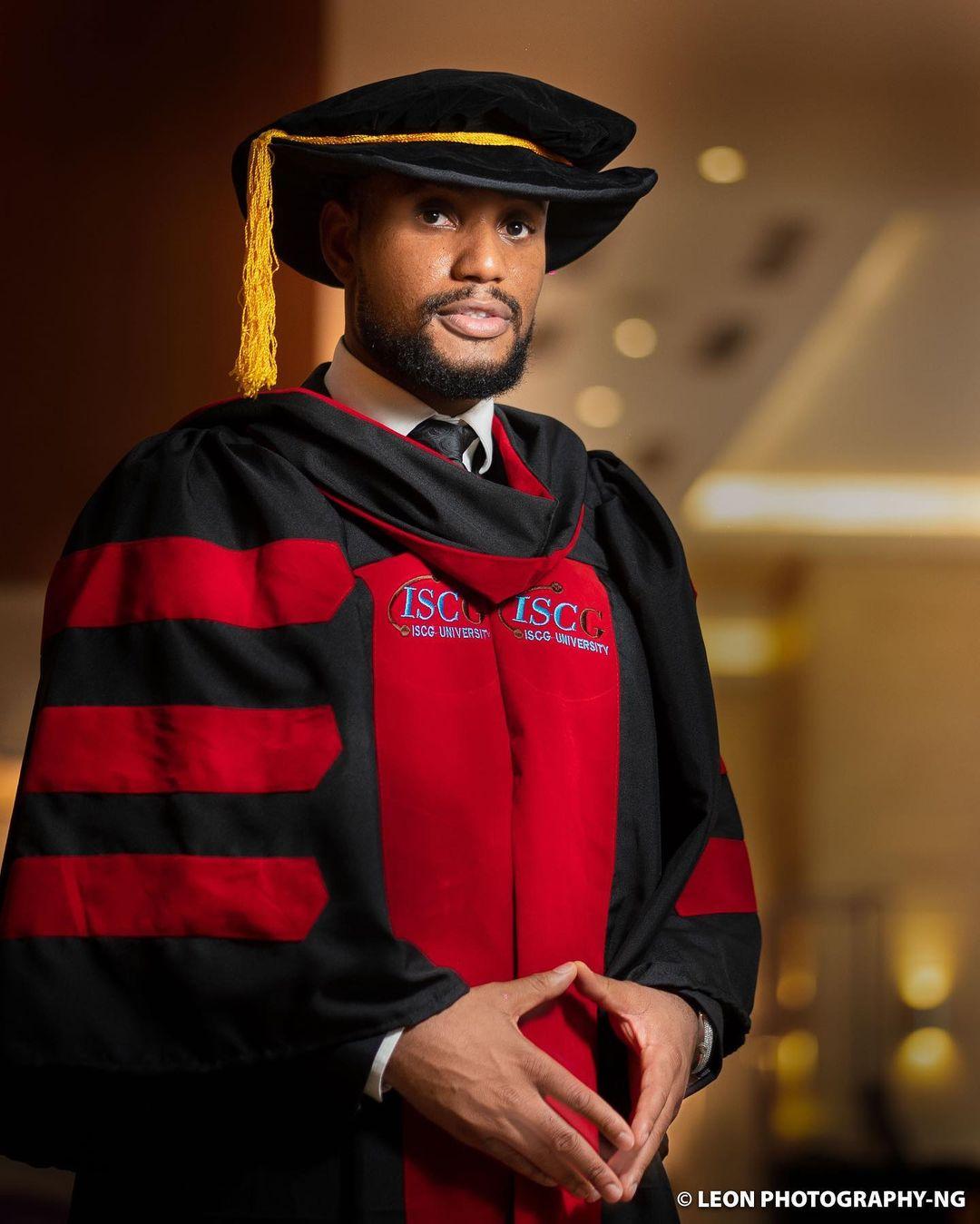 Nollywood Actor, Alexx Ekubo Bags Doctorate Degree